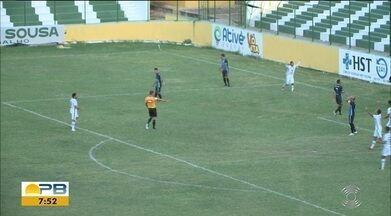 Veja os gols do empate entre Sousa e CSP, pela 9ª rodada do Paraibano - Dinossauro e Tigre ficaram no 1 a 1 em jogo realizado no Marizão