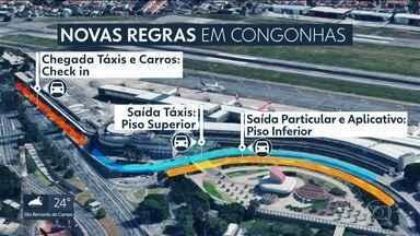 Prefeitura volta a mudar regras em Congonhas - O acesso de passageiros que usam táxi ou aplicativo vai mudar nesta terça-feira (19).
