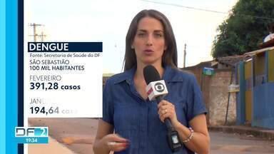 Casos de dengue voltam a aumentar e DF já registra 3.400 notificações - São Sebastião registrou a maior incidência: 391,28 casos a cada 100 mil habitantes.