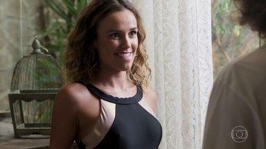 Luana Lyra planeja entrada triunfal na festa - Ela avisa que vai precisar da ajuda de João para a surpresa