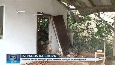 Joinville calcula prejuízos após temporal e estuda decretar situação de emergência - Joinville calcula prejuízos após temporal e estuda decretar situação de emergência