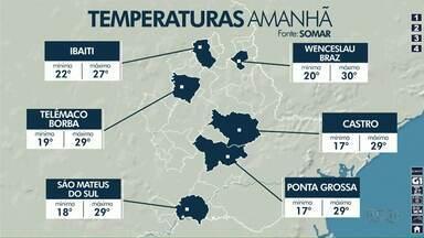 Semana será chuvosa na região dos Campos Gerais - Confira a previsão do tempo.