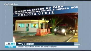 Nove PMs são presos suspeitos de participar de grupo responsável por homicídios em Belém - Eles foram presos em operação que envolveu quase trinta mandados de prisão e apreensão.