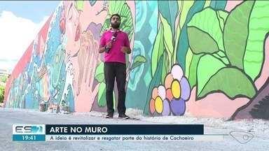 Artista do Sul do ES leva arte e cor para as ruas de Cachoeiro de Itapemirim - Objetivo do trabalho é resgatar as origens da cidade do Sul do ES.