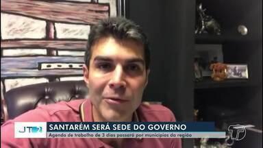 Sede do Governo do Pará vai ser instalada por três dias em Santarém - O governador Helder Barbalho chega na cidade na quarta-feira (20).