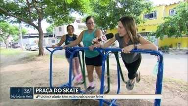 O RJ Móvel foi a Padre Miguel, nessa terça-feira - Os moradores do bairro pedem a reforma da Praça do Skate