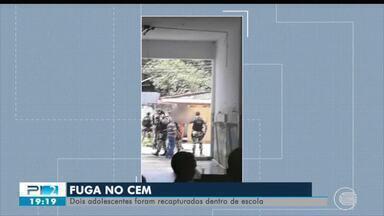 Fugitivos do CEM são capturados dentro de escola - Fugitivos do CEM são capturados dentro de escola