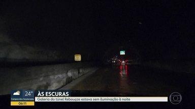 Túnel Rebouças fica sem luz - Problema foi em uma das galerias, no sentido Centro.