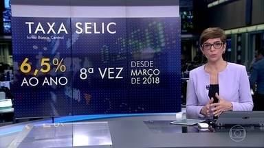 Copom mantém taxa básica de juros em 6,5% ao ano - A Selic segue nesse patamar desde março de 2018.