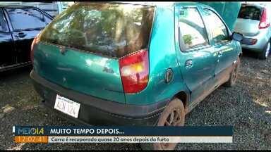 Carro é recuperado quase 20 anos depois de ser furtado - E esse não foi o único caso dos últimos dias.