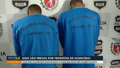 Dupla é presa por tentativa de homicídio em Maringá - Suspeitos eram procurados pela Polícia Civil.