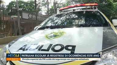 Patrulha Escolar de Maringá já registrou 24 ocorrências em 2019 - Divisão especial da PM realiza patrulhamentos nas escolas estaduais.