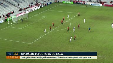 Operário perde para o Athletico por 3 a 0 fora de casa - Sem gols e com um jogador a menos, time de Ponta Grossa voltou da capital sem pontuar.