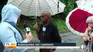 Moradores do bairro Duarte da Silveira, em Petrópolis, pedem melhorias nas ruas - Assista a seguir.