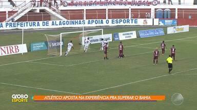 Atlético de Alagoinhas aposta na experiência para superar o Bahia, em Salvador - A partida acontece na Arena Fonte Nova. O jogo é a partida de ida da semifinal do Baianão.