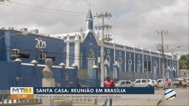 Santa Casa: prefeitos e vereadores participam de reunião em Brasília, em busca de solução - Santa Casa: prefeitos e vereadores participam de reunião em Brasília, em busca de solução.