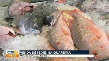 A venda de peixe no Mercado do Mucuripe - Outras informações no g1.com.br/ce