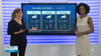 Previsão do tempo: Salvador tem possibilidades de chuvas intensas durante a noite - Veja também as temperaturas para esta sexta-feira (21).