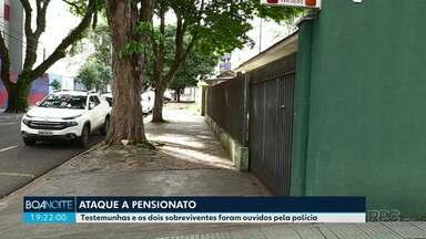 Testemunhas do ataque a pensionato são ouvidas pela polícia civil - Três pessoas foram feridas à faca, uma morreu no local