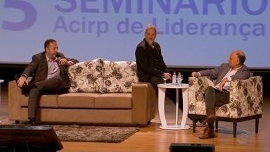 Seminário discute estratégias para melhorar desempenho do mercado em Rio Preto - Mais de quatrocentos empresários participaram de um seminário promovido pela associação comercial. Em discussão, as estratégias para melhorar o desempenho do mercado.