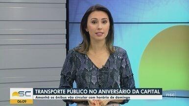 Horário do transporte coletivo terá alterações em Florianópolis neste sábado (23) - Horário do transporte coletivo terá alterações em Florianópolis neste sábado (23)