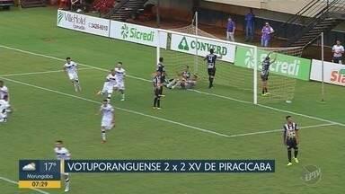 Votuporanguense e XV de Piracicaba empatam pela Série A-2 - Confira os quatro gols da partida.