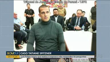 Luis Felipe Manvailer presta depoimento à Justiça - Luis Felipe negou que matou a esposa e não respondeu às perguntas.