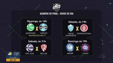 Confira como fica o mata-mata do Gauchão 2019 - A fase mais quente do Campeonato Gaúcho começa neste sábado (23) com transmissão da RBS TV.