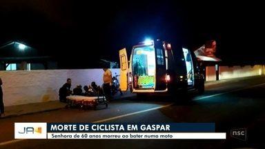 Idosa de 60 anos morre em acidente de trânsito em Gaspar - Idosa de 60 anos morre em acidente de trânsito em Gaspar