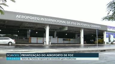 Setor do turismo espera melhorias após privatização do aeroporto internacional de Foz - A expectativa é que a pista seja ampliada para aumentar a oferta de vôos internacionais.