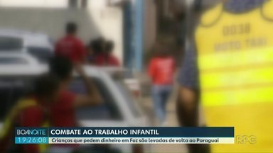 Secretaria de assistência social de Foz do Iguaçu faz ação para combater trabalho infantil - Muitas crianças paraguaias são encontradas nos semáforos de Foz vendendo doces ou pedindo esmolas. Autoridades do Paraguai foram cobradas para resolver o problema.