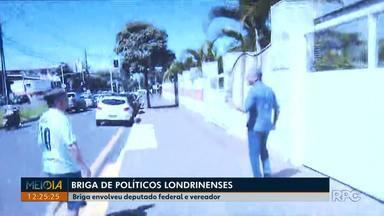 Deputado Federal e vereador brigam no meio da rua no centro de Londrina - Confusão entre Boca Aberta (PROS) e Amauri Cardoso (PSDB) aconteceu na manhã deste sábado (23), na Avenida JK.