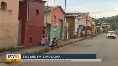 Seis mil moradores fazem simulação de rompimento de barragem em Barão de Cocais - Seis mil moradores fazem simulação de rompimento de barragem em Barão de Cocais