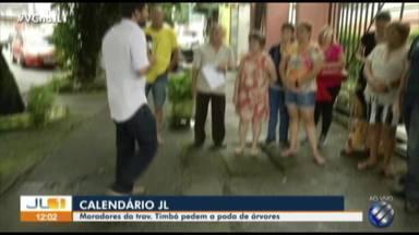 """""""Calendário JL"""" esteve no travessa Timbó, no bairro da Pedreira - Calendário JL foi até a rua saber os problemas da comunidade."""