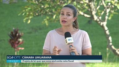 Vereadores de Umuarama votam Projeto de lei que exige nota fiscal de zona azul - Outros 7 projetos serão votados nesta segunda-feira.