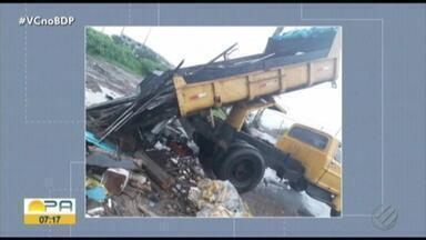 Motorista é preso em flagrante ao despejar entulho irregularmente em canal, em Belém - A Delegacia do Meio Ambiente autuou o suspeito que despejava o entulho no Canal do Tucunduba.
