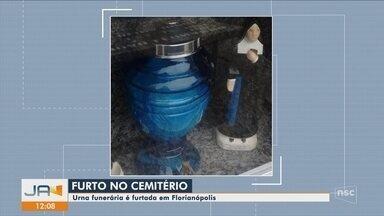 Urna funerária é furtada em cemitério de Florianópolis - Urna funerária é furtada em cemitério de Florianópolis