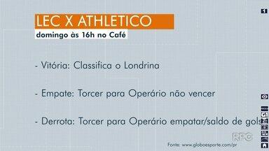 Londrina se prepara para decisão contra o Athlético neste fim de semana - A vitória classifica o time, já se empatar ou perder precisa torcer pelos resultados de outros adversários.
