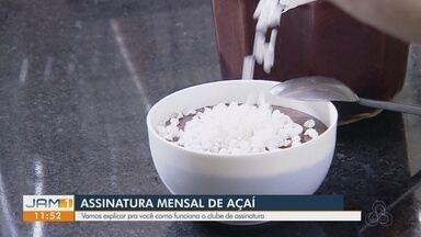 Em Manaus, jovem empreendedor inova com assinatura de açaí - Carlos Oshiro mostra como funciona o negócio.