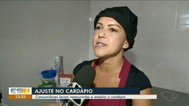 Consumidores levam restaurantes a ampliar o cardápio no Sul do ES - Clientes estão mais preocupados com a saúde.