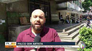 Theatro Dom Pedro, em Petrópolis, perde eventos por não ter certificação dos bombeiros - Assista a seguir.