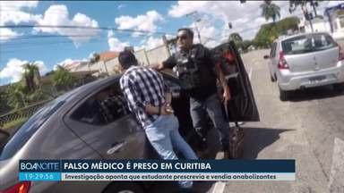 Polícia prende estudante de medicina que atuava como médico e vendia anabolizantes - Além dele, outro homem também foi preso, por atuar ilegalmente como professor de educação física.