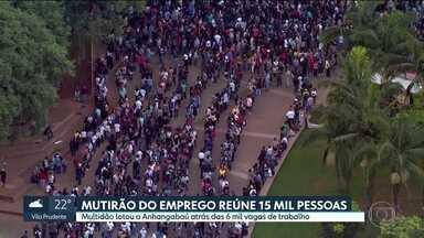 Desemprego é de 15,5% na Grande São Paulo - 1,7 milhão de pessoas estão sem trabalho na região metropolitana. Dados foram divulgados pela Fundação Seade e pelo Dieese.