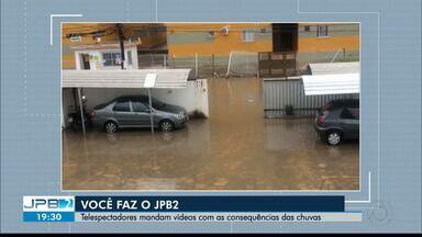 JPB2JP: Capital enfrenta transtornos em poucas horas de muita chuva - Telespectadores mandam vídeos com as consequências das chuvas.