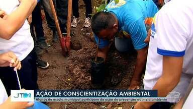 Iderflor-Bio faz ação ambiental com alunos de escola municipal de Santarém - Os estudantes da Escola Municipal Nossa Senhora de Fátima participaram de uma programação voltada a importância das árvores.