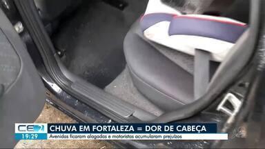 Chuva em Fortaleza causa novos transtornos em ruas e avenidas - Heráclito Graça e Alberto Craveiro voltaram a ficar alagadas