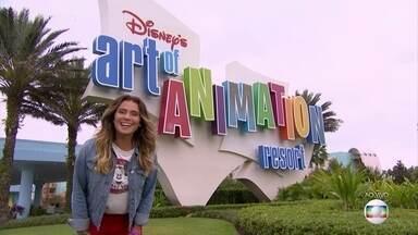 Giovanna Antonelli mostra os divertidos hotéis em Walt Disney World - Hotéis trazem os temas Disney na decoração