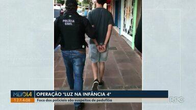 Operação contra a pedofilia cumpre mandados em várias cidades do Paraná - Em Foz do Iguaçu o Nucria cumpriu mandados de busca.