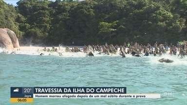 Homem morre e outro passa mal durante prova de travessia no mar de Florianópolis - Homem morre e outro passa mal durante prova de travessia no mar de Florianópolis