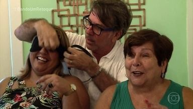 Dona Norma e a filha se emocionam com reforma do 'Dando Um Retoque' - undefined